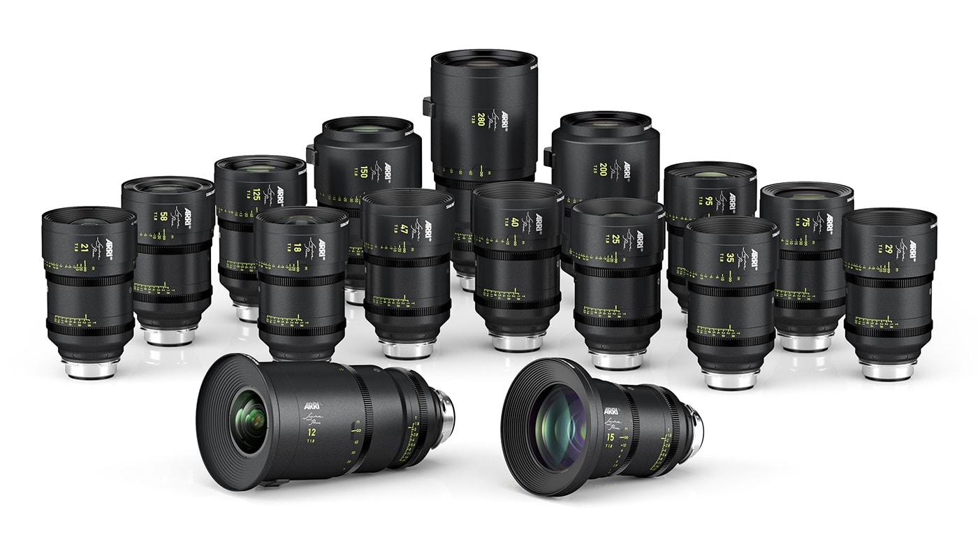 16 large-format ARRI Signature Prime lenses